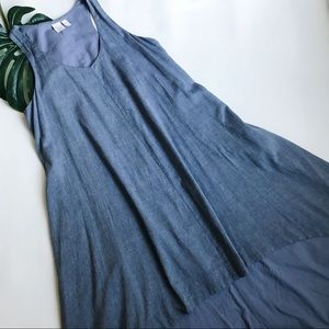 THE FISHER PROJECT HIGH LOW CHAMBRAY DRESS B25